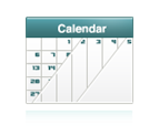 View On-Screen Calendars: Monthly, Weekly and Daily Views